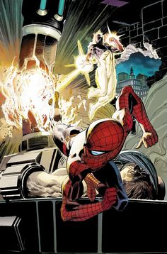 Captain Universe and Spider-Man by Lee Weeks