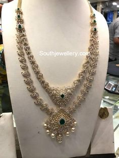 Indian Jewellery Designs - Page 17 of 1785 - Latest Indian Jewellery Designs 2020 ~ 22 Carat Gold Jewellery one gram gold 18k Gold Jewelry, Gold Jewellery Design, Wedding Jewelry, Diamond Jewellery, Diamond Necklace Set, Heart Pendant Necklace, Urban Jewelry, Jewelry Model, Indian Jewelry