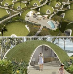 green roof community concept renderings, SOmething a little different!! #greenfuture www.ampleearth.com