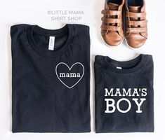 mom and baby Mama + Mama's Boy Mom And Me Shirts, Mom Of Boys Shirt, Mama Shirt, Baby Shirts, Family Shirts, Tee Shirt, Mom And Son Outfits, Boy Outfits, Tutu