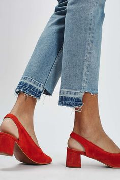 MOTO Stepped Hem Straight Leg Jeans