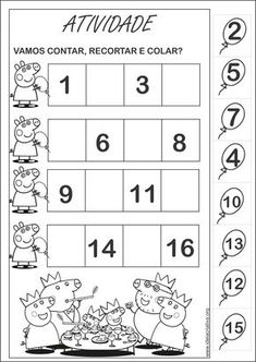 Rekenen met kleuters Peppa Pig Mais Montessori Activities, Kindergarten Worksheets, Preschool Activities, Life Skills Lessons, Teaching Life Skills, Math For Kids, Kids Education, Peppa Pig, Kids Learning