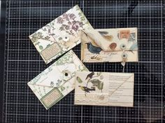 I wanted to share what I call a faux envelope journalling spots and, as I mention in the video, this is not a ne. Handmade Envelopes, Handmade Journals, Junk Journal, Journal Ideas, Envelope Art, Envelope Templates, Tissue Paper Art, Bookbinding Tutorial, Journal Covers