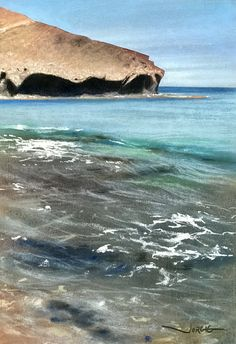 Soft pastel and water colour on Fabriano paper. By Jorge Gómez Jorge Gomez, Sea Paintings, Spain, Pastel, Colour, Outdoor, Landscape Paintings, Gatos, Color