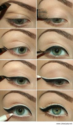 How to apply black and white eyeliner