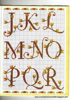 Gráfico de abecedario con flores...
