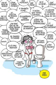 Viñetas divertidas sobre el embarazo - Agustina Guerrero