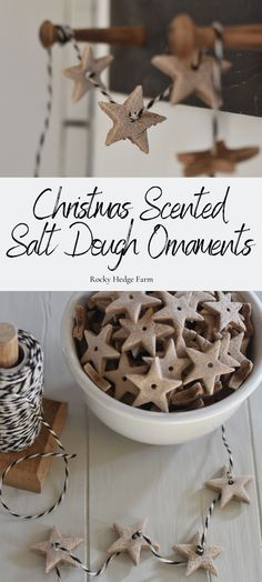 Learn how to make these beautiful yet simple salt dough ornaments. Learn how to make these easy Christmas scented salt dough ornaments. These handmade salt dough ornaments are easy for kids to make and a great gift idea. Christmas Scents, Diy Christmas Ornaments, Rustic Christmas, Christmas Projects, All Things Christmas, Holiday Crafts, Christmas Holidays, Salt Dough Christmas Decorations, Cute Christmas Ideas