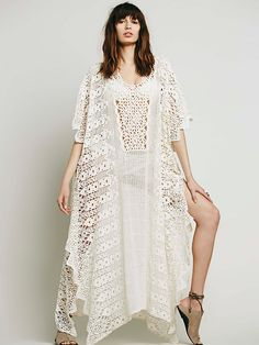 Jen's Pirate Booty Dreamweaver Maxi Lace Poncho at Free People Clothing Boutique