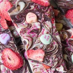 Strawberry Heart Bark