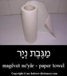 Paper towel in Hebrew