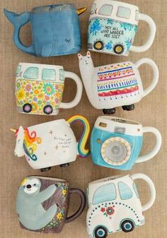 We can't never have enough cute mugs! We can't never have enough cute mugs! We can't never have enough cute mugs! We can't never have enough cute mugs! Cool Mugs, Unique Coffee Mugs, Funny Coffee Mugs, Ceramic Mugs, Ceramic Pottery, Ceramic Art, Crackpot Café, Coffee Mugs Online, Cute Cups