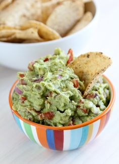 Classic chips and guac! #NationalGuacDay