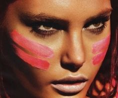 Tribal Makeup. Playing with makeup like this soon!
