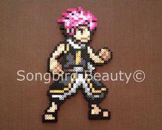 Natsu Dragneel Fairy Tail Perler beads geekery by SongbirdBeauty Perler Beads, Perler Bead Art, Fairy Tail Art, Kawaii Crafts, Minecraft Pixel Art, Hama Beads Patterns, Melting Beads, Beaded Cross Stitch, 8 Bit