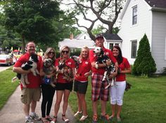 Some of us with our four-legged family members! - Sara Simnitch 7.12.14