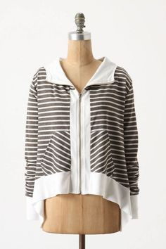 Anthropologie Kick Back Hoodie Size S & M, Relaxed Oversized Striped Top, Market #Market #Hoodie