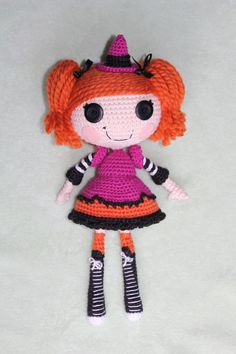 PATTERN Lalaloopsy Candy Broomsticks Crochet by epickawaii on Etsy
