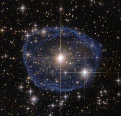 spaceexplorationphotography:  Hubble's Blue Bubble [400x300]Source: http://www.nasa.gov/sites/default/files/thumbnails/image/hubble_friday_02262016.jpg