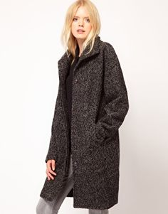 Enlarge Just Female Wool Funnel Coat
