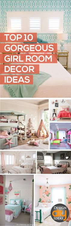 These rooms are beautiful and would be perfect for all different styles of girls.  Check out the best girls room decor ideas...