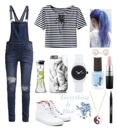 """Everything is Blue"" by harlec8king ❤ liked on Polyvore featuring Cheap Monday, Vans, Nixon, MAC Cosmetics, Trish McEvoy, Accessorize, Glitter Injections, Menu and MOOD"