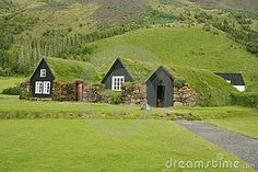 Iceland ancient architecture - turf houses