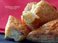 Μπισκότα με κεφαλοτύρι και καπνιστό μπέικον   Tante Kiki Muffin, Cheese, Breakfast, Blog, Food Food, Morning Coffee, Muffins, Blogging, Cupcakes