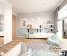 Pokój dziecięcy - Średni pokój dziecka dla dziewczynki dla nastolatka, styl skandynawski - zdjęcie od MOTIF