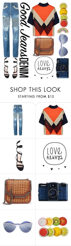 """Untitled #319"" by poorvashikalra ❤ liked on Polyvore featuring Forte Couture, Mulberry, Gianvito Rossi, STELLA McCARTNEY, Lomography, Marc Jacobs and Georgia Perry"