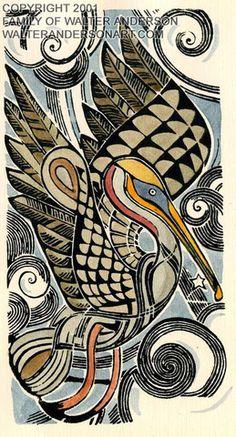 Pelican, Vertical – Realizations: The Walter Anderson Shop