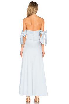 FAME AND PARTNERS Sandrine Maxi Dress in Pale Blue   REVOLVE