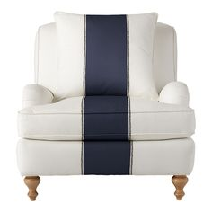 Navy Racing Stripe Chair - so gorgeous