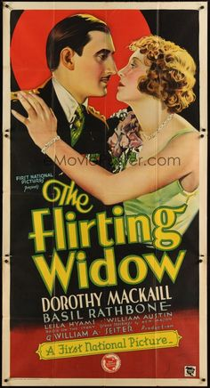 The Flirting Widow (1930) Stars Dorothy Mackaill, Basil Rathbone, Leila Hyams