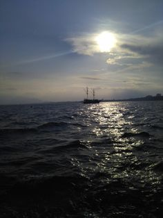 Akdeniz, Güneş, Gemi, Huzur, Sun, Ship, Serenity