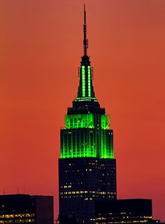 St. Patrick's Day 2012 in NYC  - Empire State Building wearing the green!