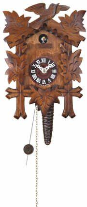 Buy New: £43.20 (UK & Ireland Only): Quarter call cuckoo clock with 1-day movement Five leaves, bird TU 619 nu