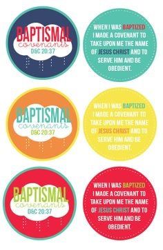 LDS Baptism Handouts | What the Lord promises us if we keep our baptismal covenants.