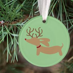 Reindeer Doxie Christmas Tree Ornaments - The Smoothe Store - 2