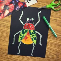 Save your old food magazines for this bug collage project. The shiny and colorful fruit, for example, has a whole … Read More The post Bug Magazine Collage appeared first on Art Projects for Kids. Magazine Collage, Magazine Photos, School Art Projects, Projects For Kids, Spring Art Projects, 2nd Grade Art, Bug Art, Ecole Art, Insect Art