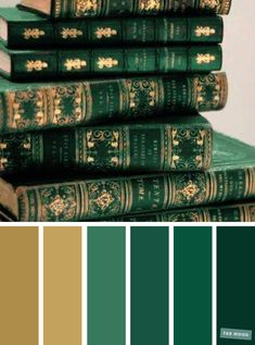 Emerald green and gold color scheme Green Things green color palette Color Schemes Colour Palettes, Gold Color Scheme, Green Color Schemes, Green Colour Palette, Wedding Color Schemes, Green Colors, Colours, Wedding Colors, Gold Paint Colors