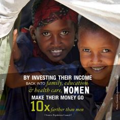 THIS is why investing in women is so critical to ensuring that we help lift people out of poverty.