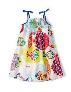 Multi Big Fish Strappy Sun Dress