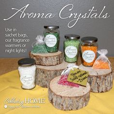 Our Aroma Crystals are the perfect pick me up to brighten a friends' day. Available in 8 scent-ational fragrances. Connect with your Designer or click the link to shop http://www.celebratinghome.com/sites/52646159