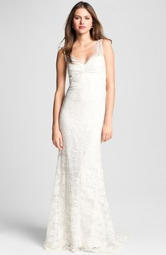 Nicole Miller 'Brooke' Sleeveless Lace Trumpet Gown available at #Nordstrom