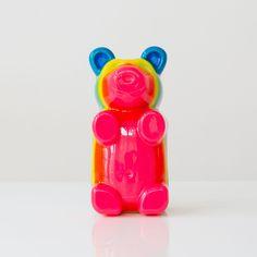 Gummi Bear Pop Art Sculpture in rainbow layers. Perfet kids room decor, nursery decor item, candy decor, and more. Handmade in New Orleans by Sazerac stitches. Baby Boy Nursery Decor, Nursery Design, Baby Boy Nurseries, Cute Bears, Gummy Bears, Lovers Art, Cute Kids, Sculpture Art, Kid Stuff