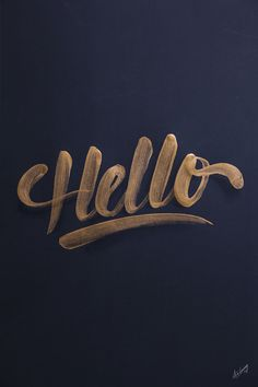 Hello hand lettering by its-a-living - via www.murraymitchell.com