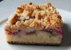 Rhabarber - Streuselkuchen, ein leckeres Rezept aus der Kategorie Kuchen. Bewertungen: 81. Durchschnitt: Ø 4,6.