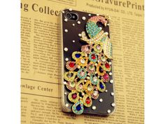 3D Crystal Peacock iPhone 5 Case (Colorful)