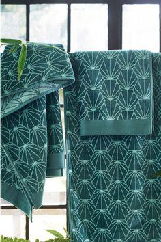 Asciugamano lavorato jacquard - Verde petrolio - HOME | H&M IT